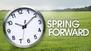 March 8, 2020-Spring Forward with time