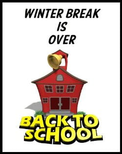Welcome back to school on Wednesday, January 6, 2021.