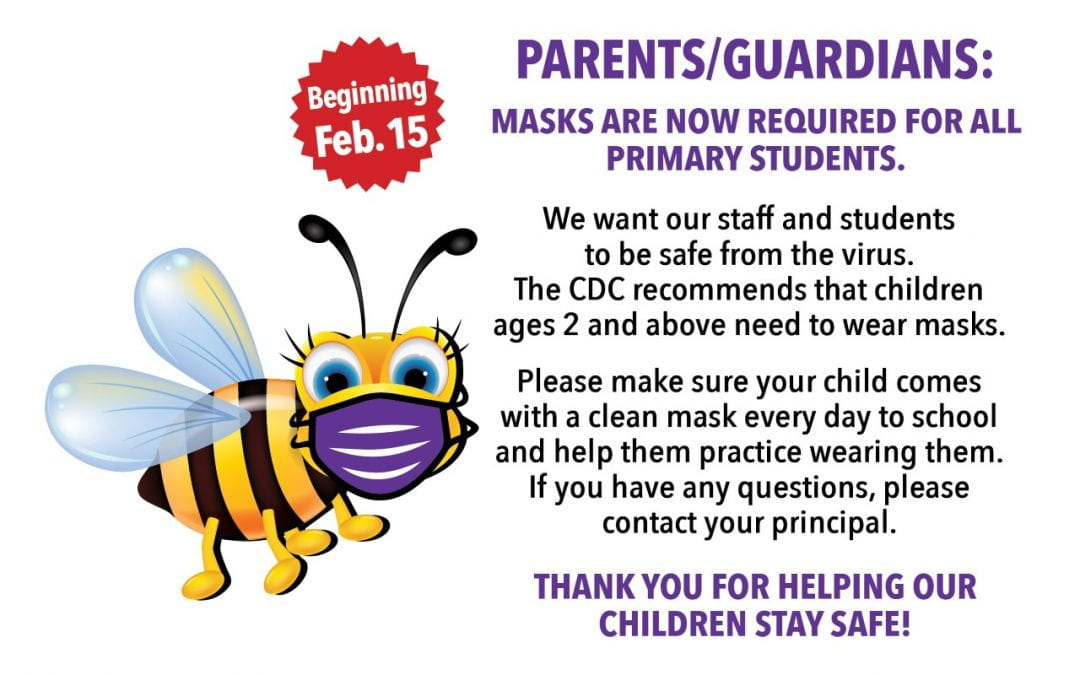 Hackney Honeybees – Mask it up beginning on Monday, February 15, 2021