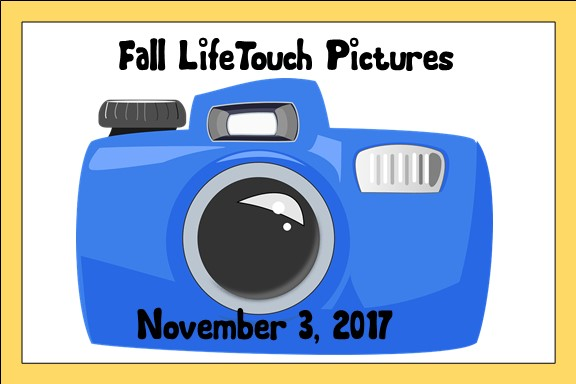 LifeTouch Fall Pictures will be November 3, 2017
