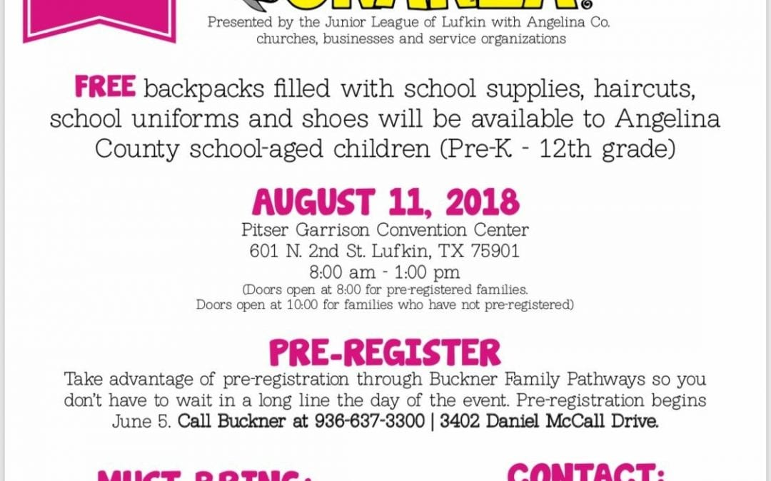 Back to School Bonanza August 11, 2018