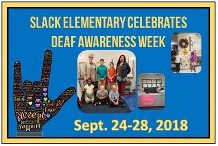 Deaf Education Week Sept. 24-28, 2018