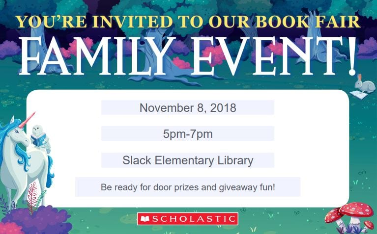 Book Fair Nov. 5-9, 2018