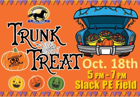Trunk-or-Treat will be October 18, 2018