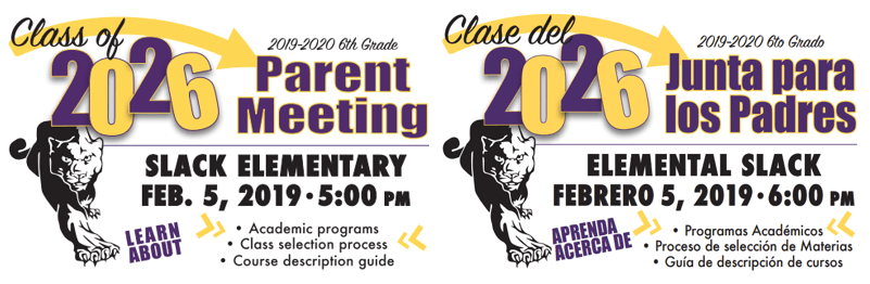 Class of 2026 Parent Meeting February 5, 2019