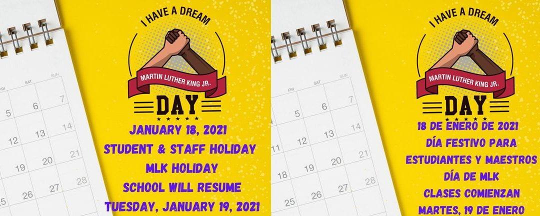 Student & Staff Holiday – MLK Holiday