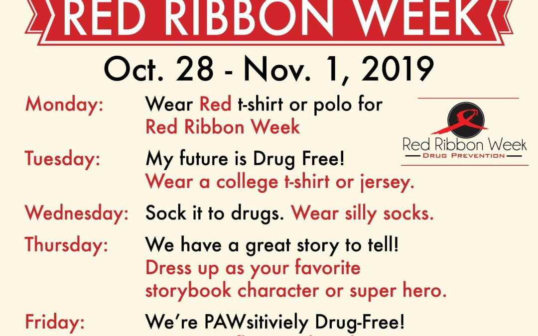Join in on the Red Ribbon Week Fun! October 28-November 1