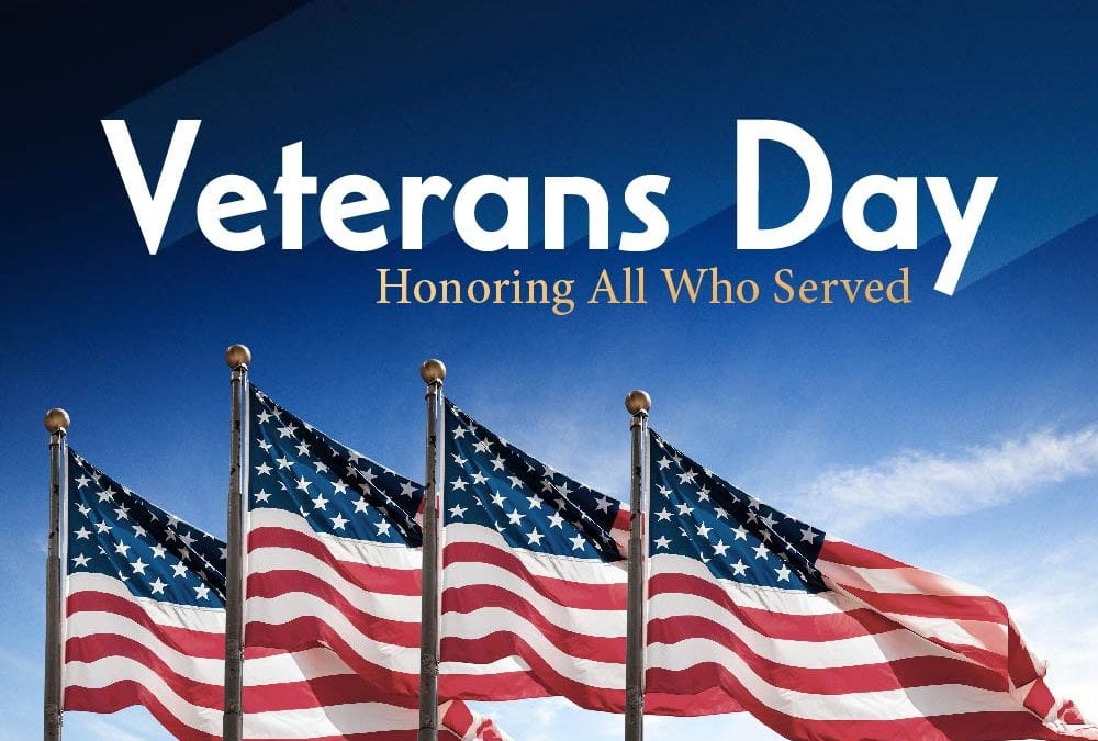 Friday, November 8, 2019: Veteran's Day Program