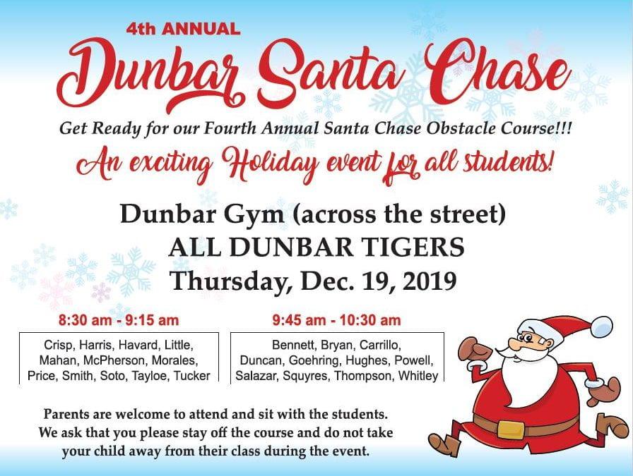 Santa Chase: Thursday, December 19, 2019