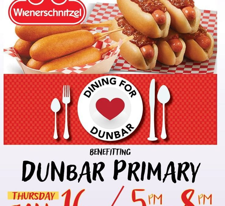 Join us at Wienerschnitzel for our January Dining for Dunbar