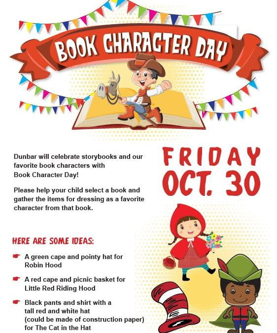 October 30: Book Character Day