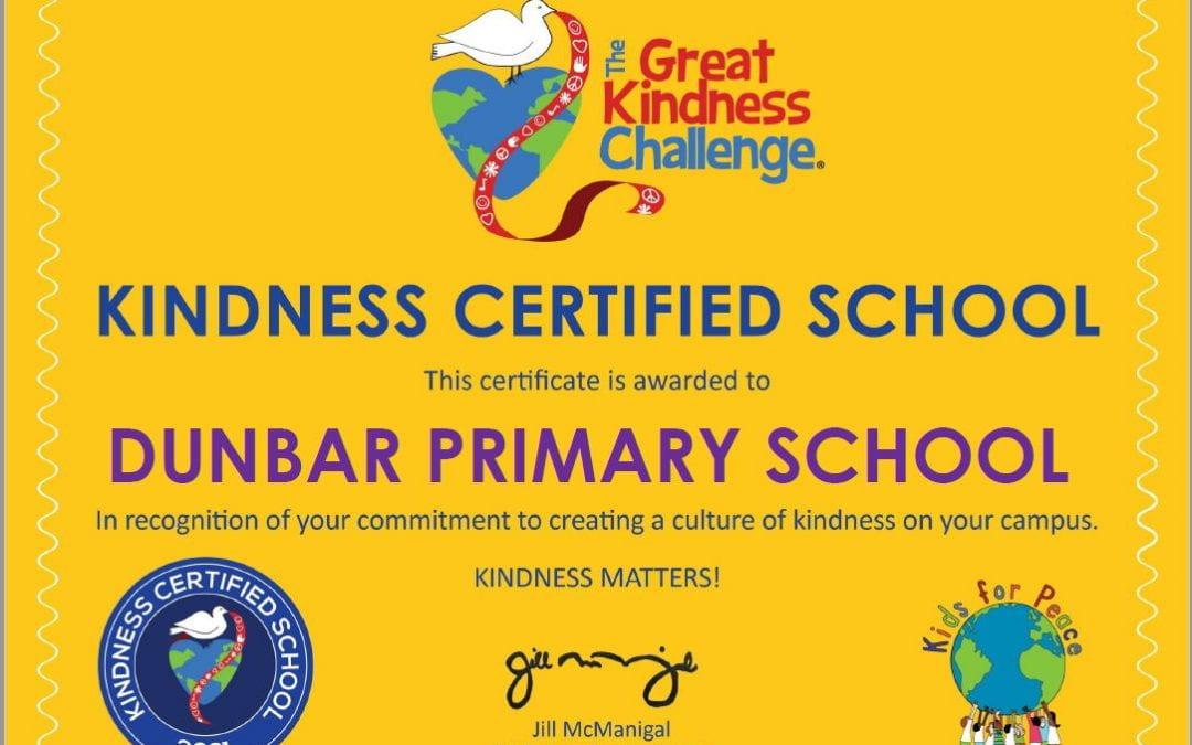 Dunbar Is Kindness Certified!