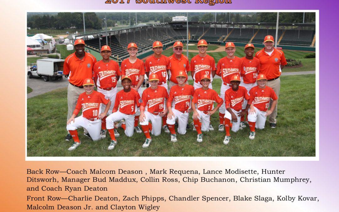 Lufkin Middle School supports the Lufkin Little League team!