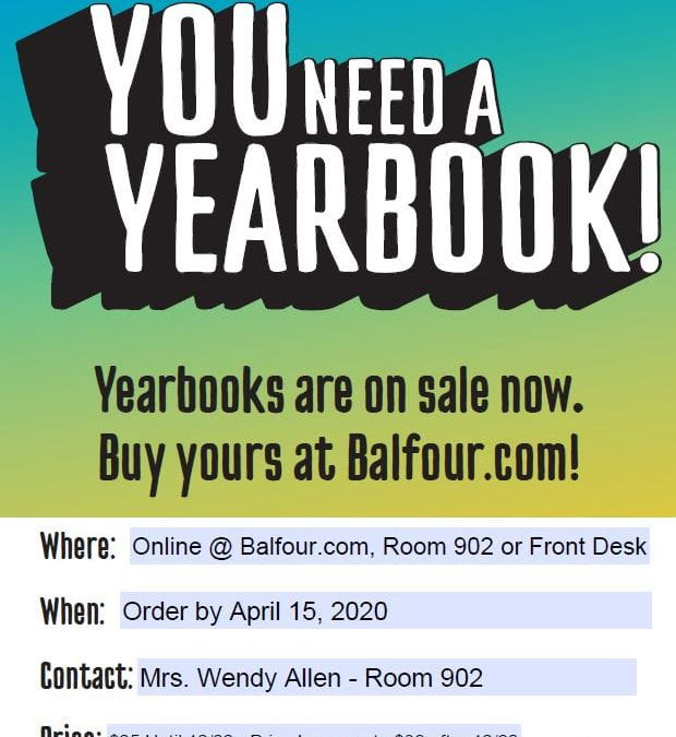 LMS Yearbooks are on sale now!