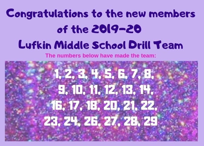 Congratulations to the new LMS Drill Team!