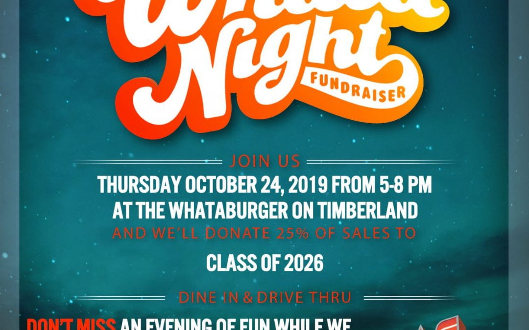 Whataburger Fundraiser