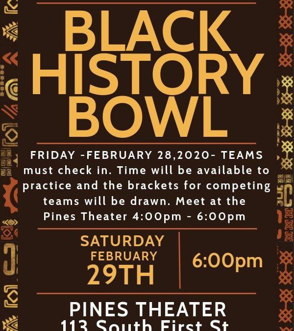 Black History Bowl