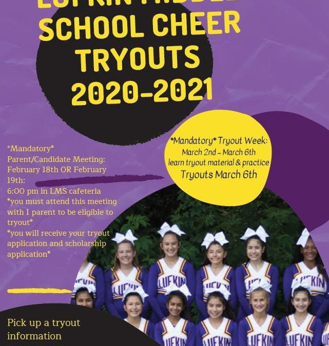 Lufkin Middle School Cheer Tryouts 20-21