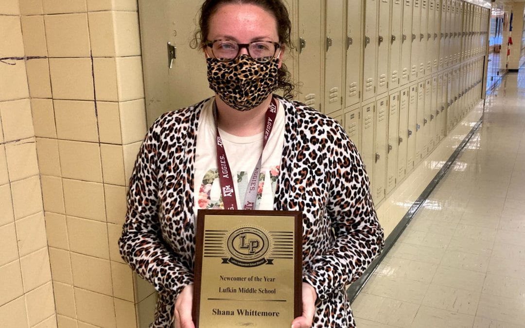 Congratulations to our LMS Newcomer Teacher of the Year Shana Whittemore!
