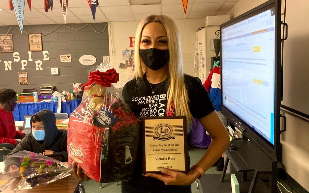 Congratulations to our LMS Teacher of the Year Victoria Ross!