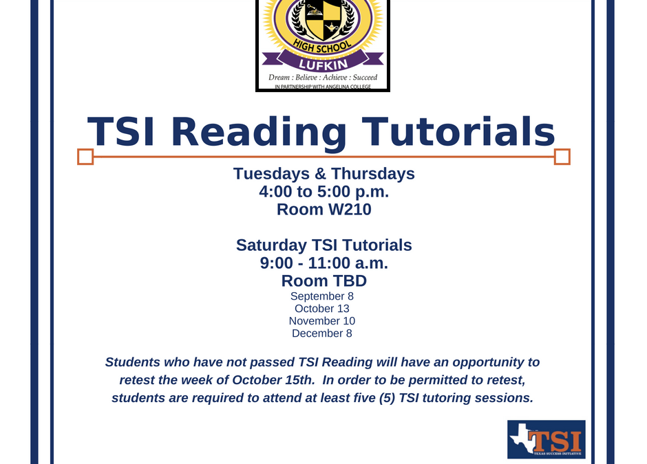 TSI Reading Tutorials