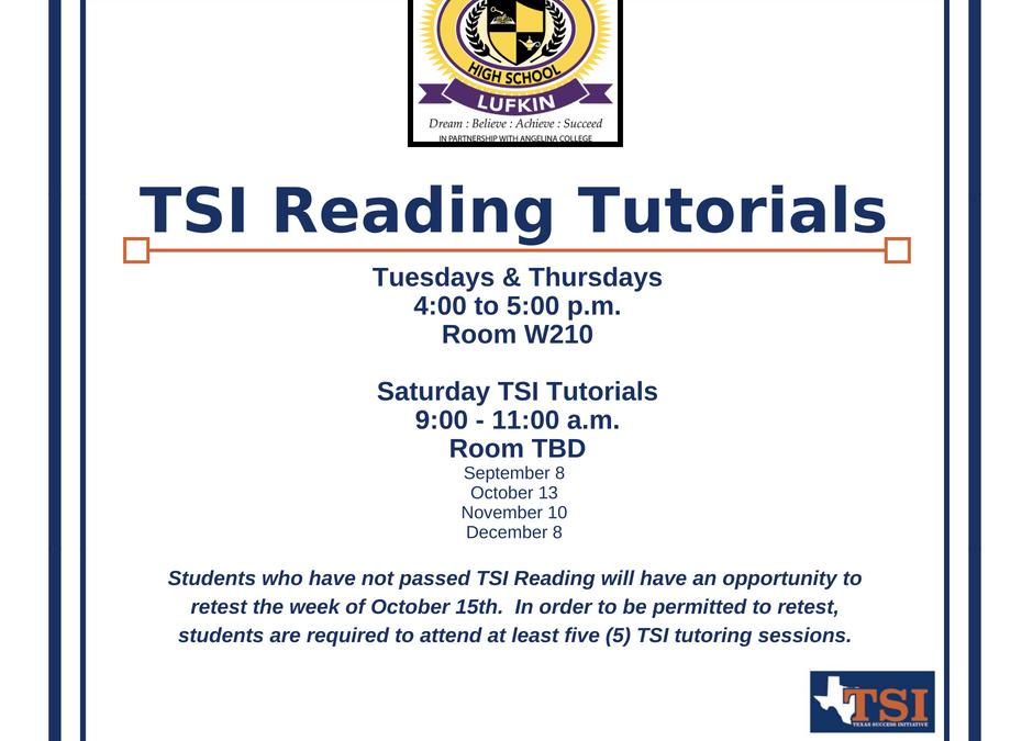 TSI Reading Tutorials