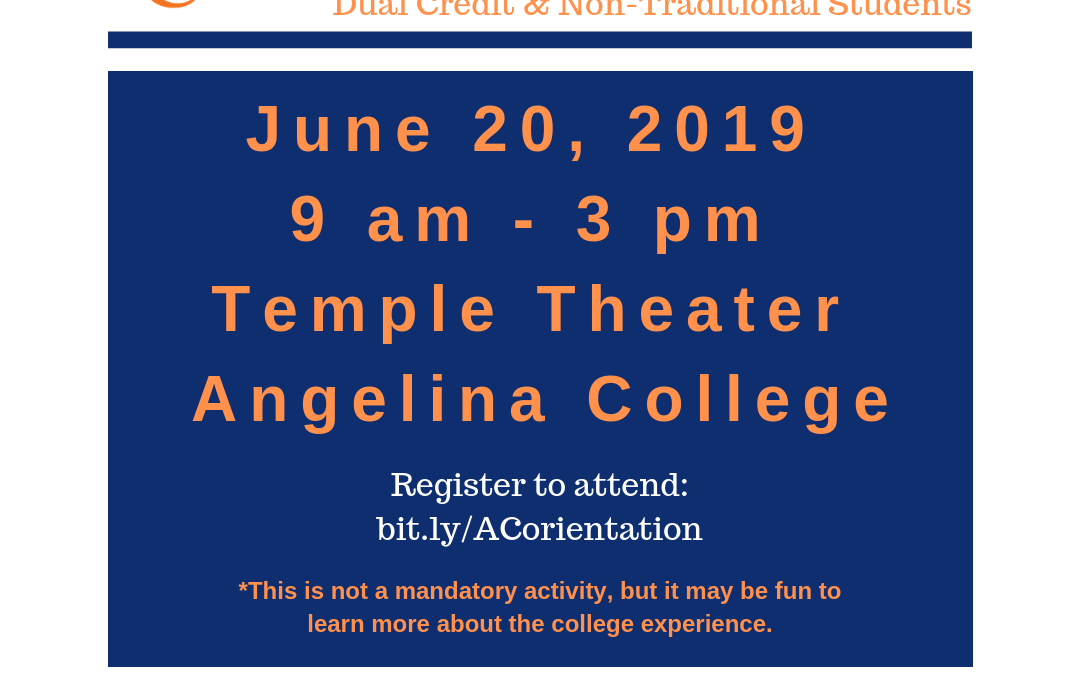 AC fall orientation set for 9 a.m.-3 p.m. on Thursday, June 20