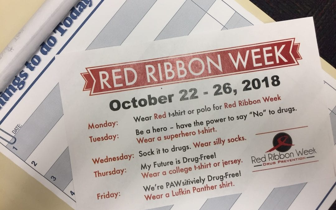 Red Ribbon Week October 22-26