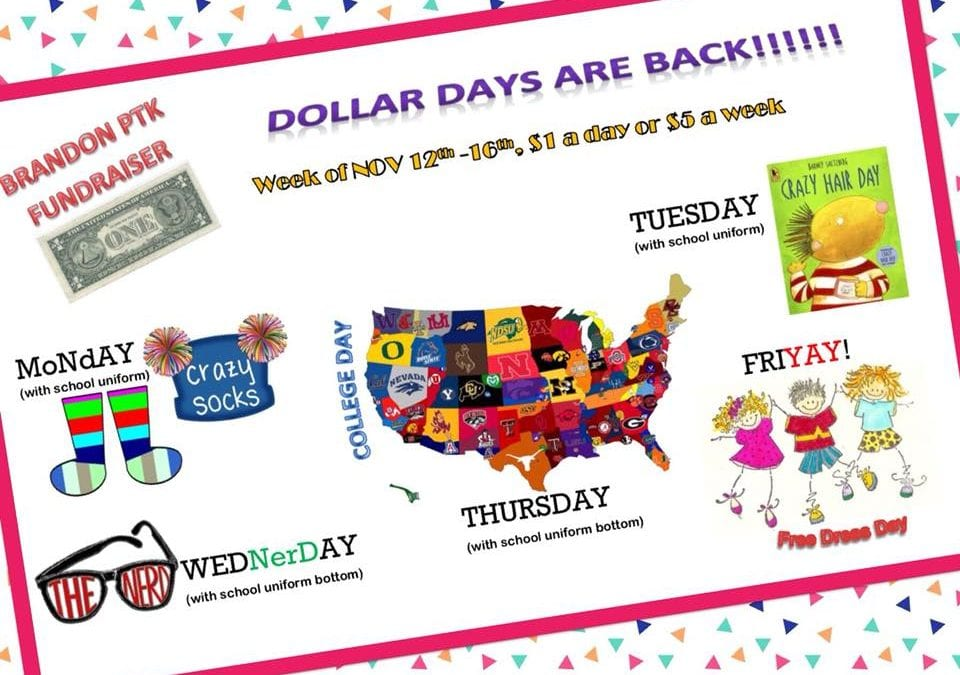 Dollar Days are back!