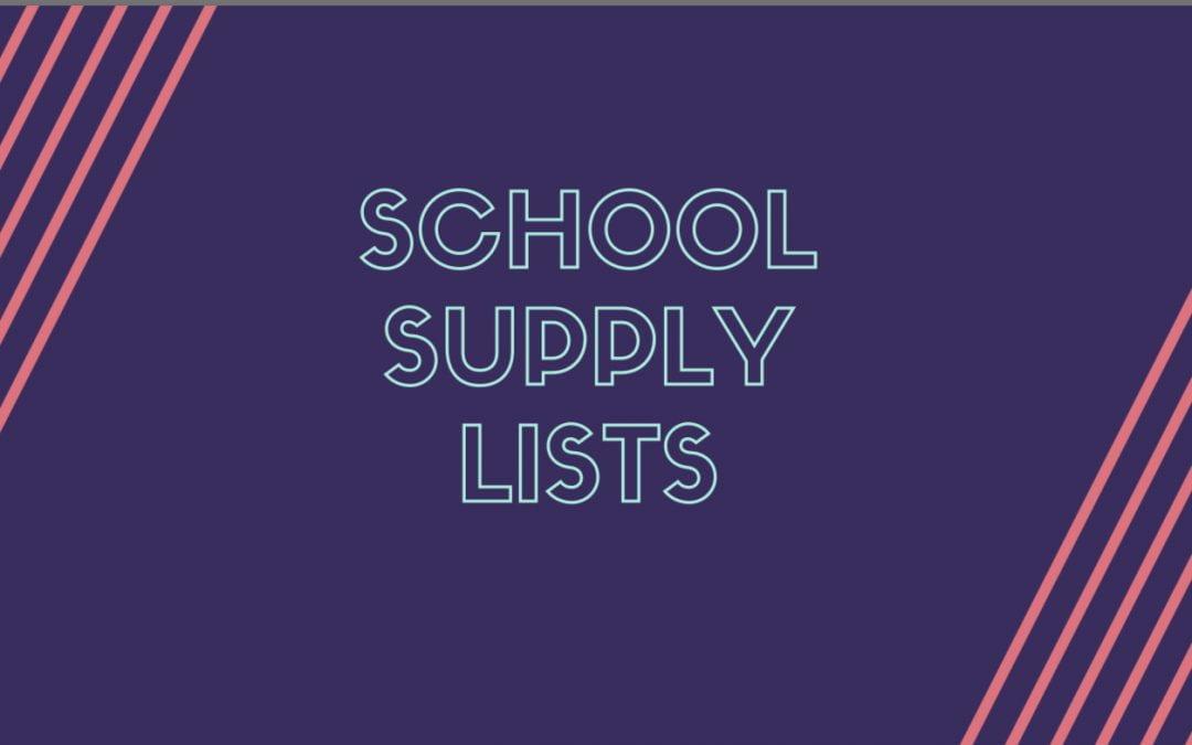 2019-2020 LISD school supply lists