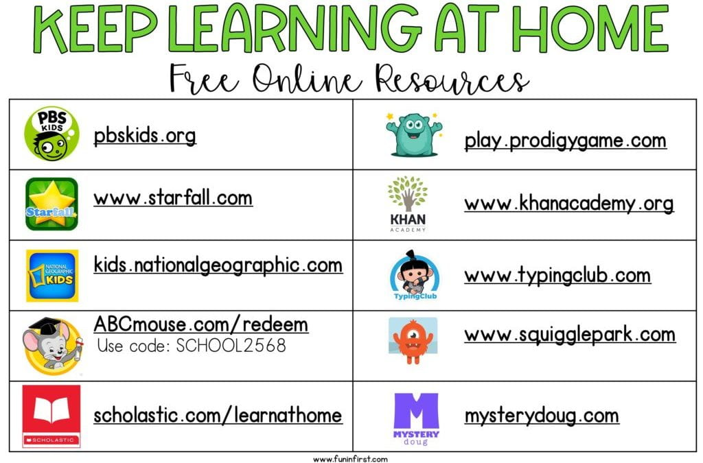 Resources to Keep Students Engaged at Home