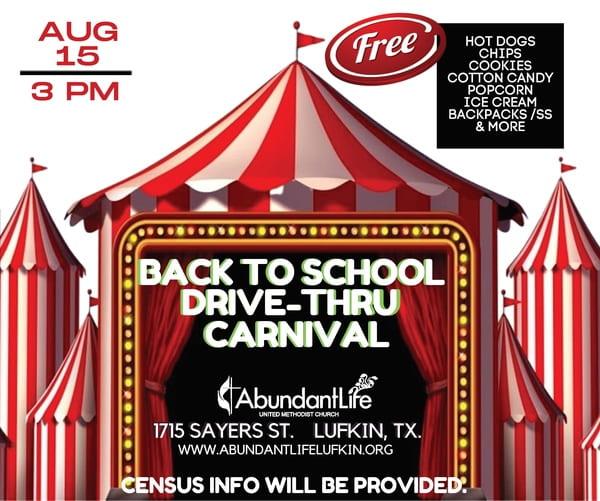 Drive-Thru Carnival @ Abundant Life