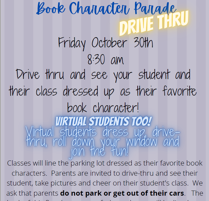 Book Character Parade: Drive-Thru Style