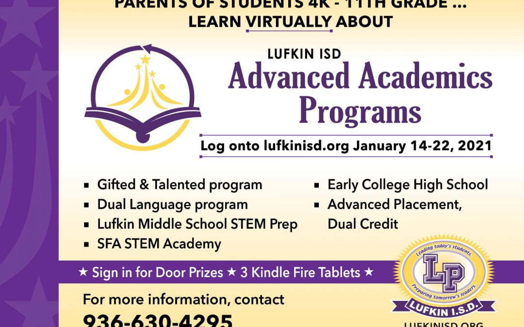 The Virtual Advanced Academics Presentation is Now Open to View!