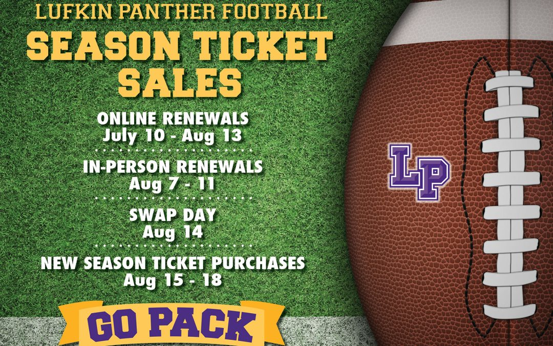 How to renew or get your season Lufkin Panthers football tickets