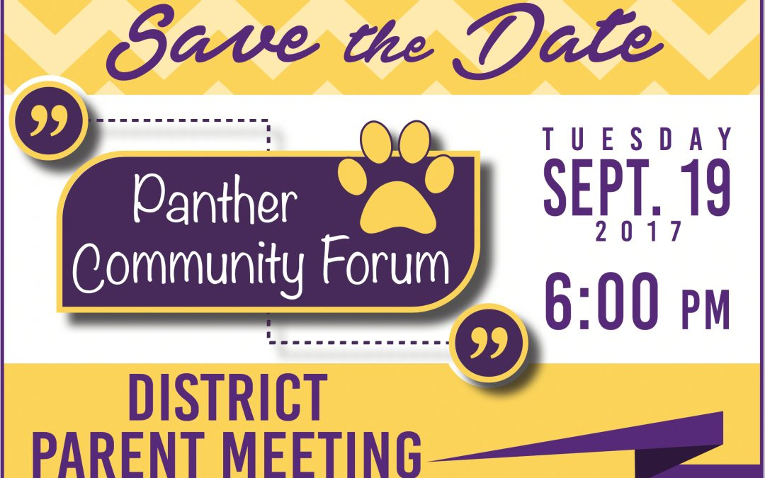 Panther Community Forum scheduled for Sept. 19