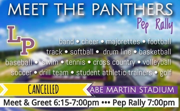 Meet the Panthers Pep Rally cancelled