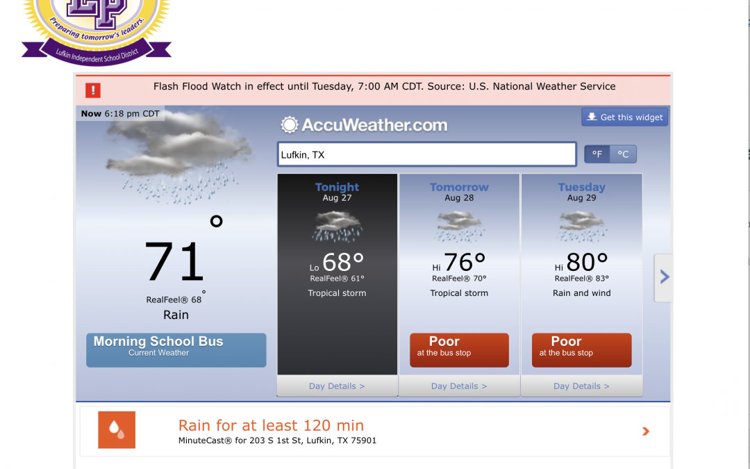 Weather watch: Lufkin ISD monitoring Harvey