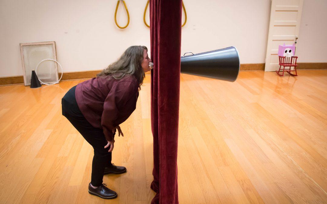 Lufkin High School art department head unveils exhibit at AC