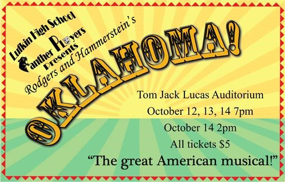 'Oklahoma:  The Great American Musical' coming to LHS on Oct. 12-14