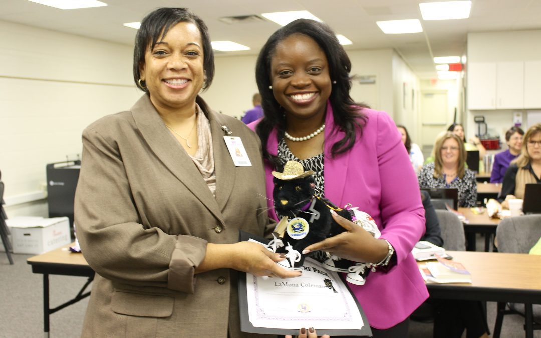 Congratulations to the Leader of the Pack: Garrett Primary Principal LaMona Coleman