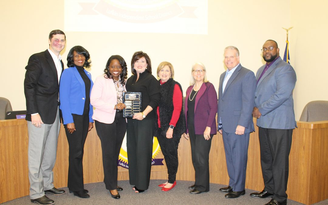 Lufkin ISD Board of Trustees recognize Education Foundation and student artists
