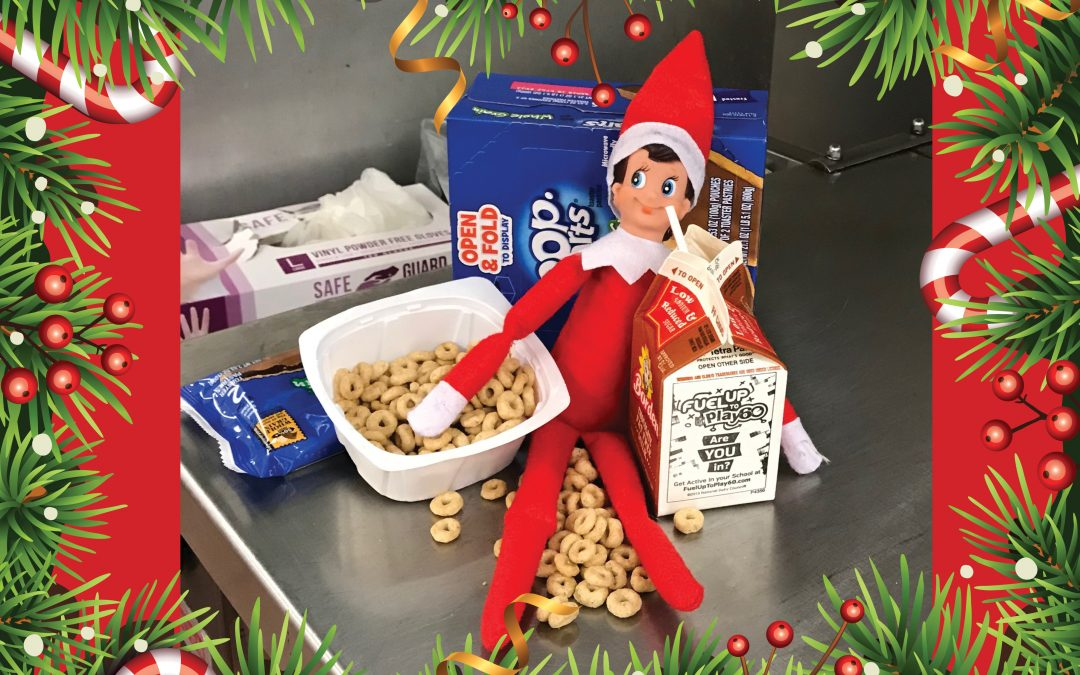 Elves are spreading holiday happiness in the kitchens