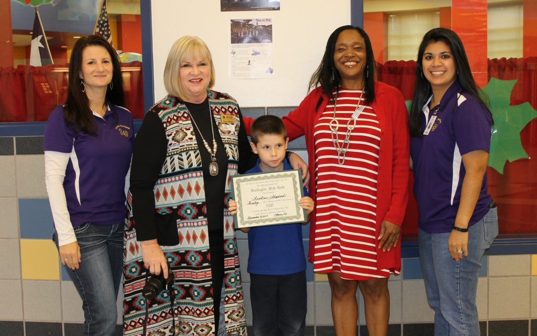 It Pays to Make A's: Burley Primary Student Wins $500 from Huntington State Bank