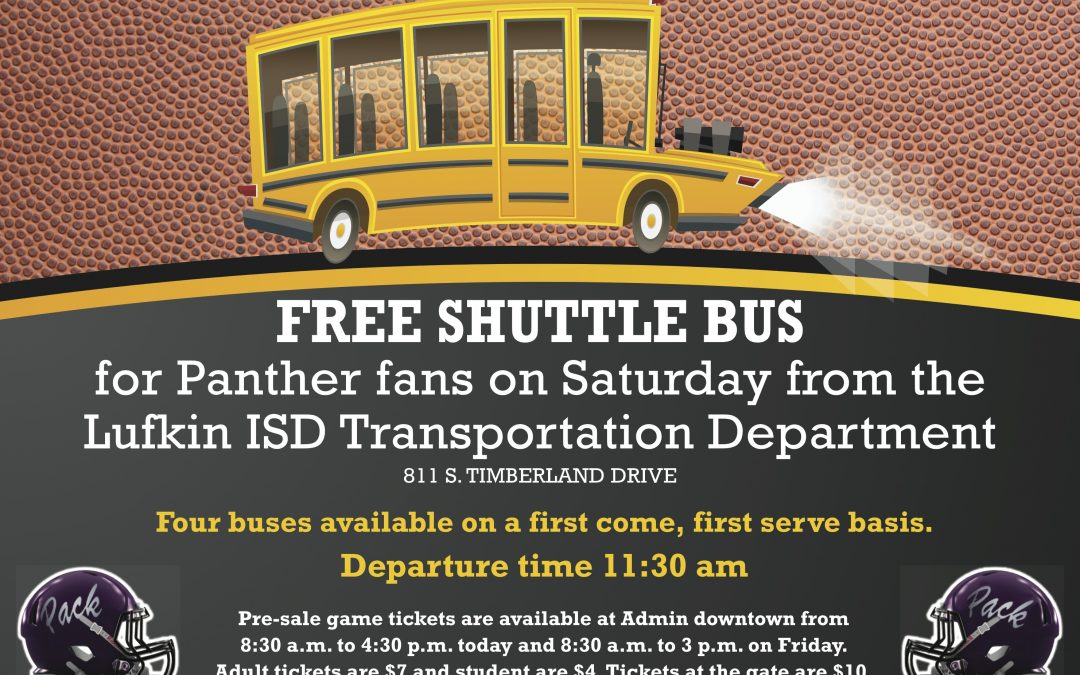 Free Shuttle Bus to Playoff Game Saturday