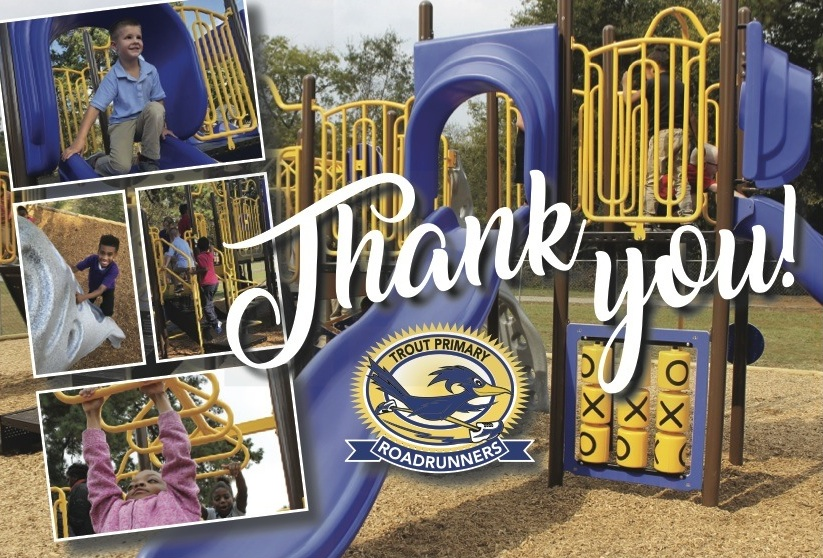 Trout Primary: Thank you to our giving community for our new playground!
