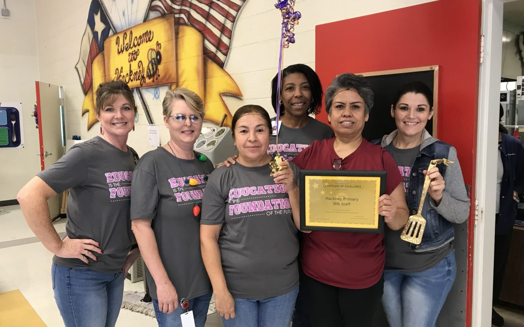 Hackney Primary Cafeteria Staff is this month's Golden Spatula Award Winner