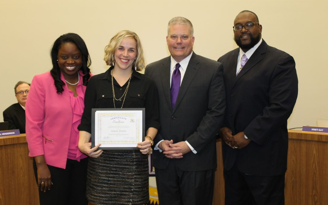 Primary Teacher receives National Board Certification