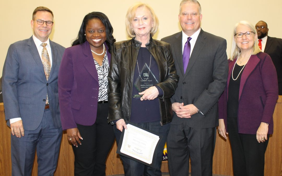 Lufkin ISD Excellence Awards presented at February LISD board meeting