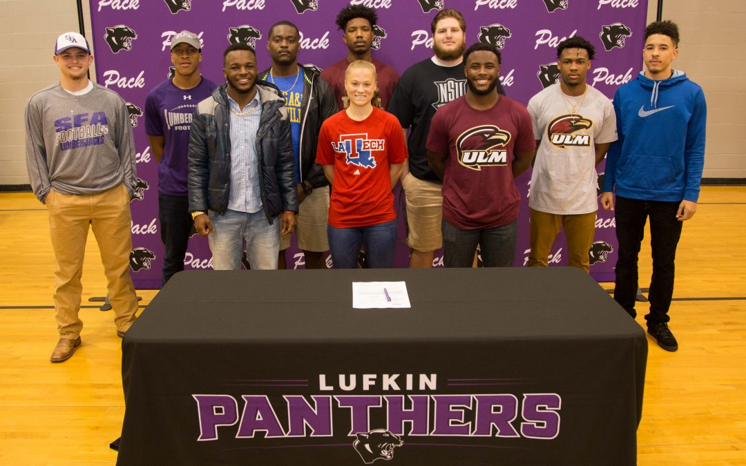 Congratulations to LHS athletes on National Signing Day!
